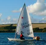 laser dinghy racing in dale bay, pembrokeshire